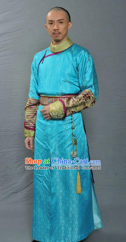 Chinese Ancient Qing Dynasty Eight Prince Yinsi Replica Costume for Men