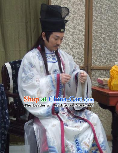 Traditional Chinese Ming Dynasty Ancient Emperor Zhu Youxiao Costume for Men