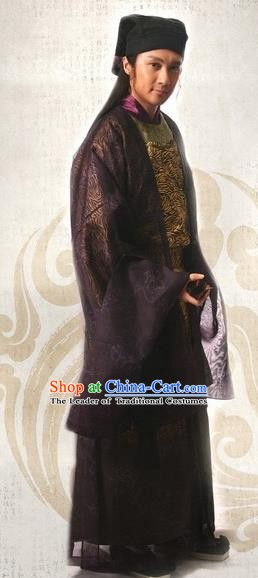 Traditional Chinese Ming Dynasty Ancient Gifted Scholar Zhu Zhishan Costume for Men