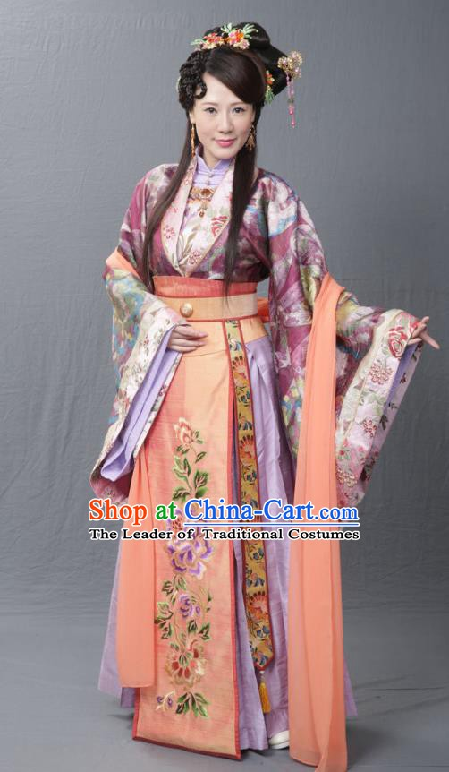 Chinese Ancient Imperial Concubine Wan Costume Ming Dynasty Palace Lady Embroidered Dress for Women