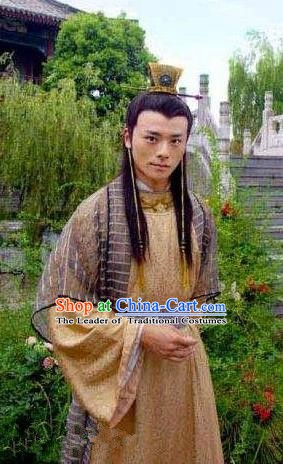 Ancient Chinese Ming Dynasty Emperor Zhu Youjian Embroidered Costume for Men