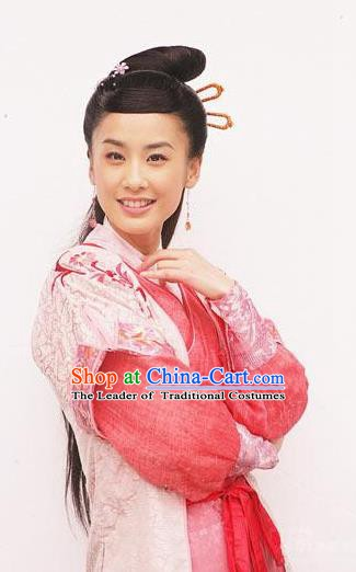 Chinese Ancient Ming Dynasty Swordswoman Embroidered Historical Costume for Women