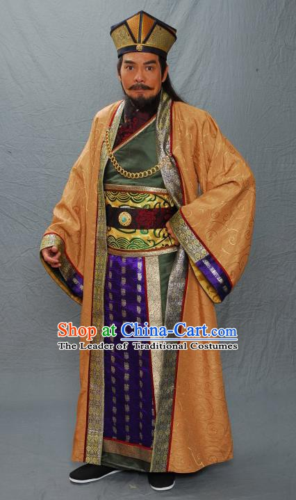 Ancient Chinese Ming Dynasty Royal Highness Ning Zhu Chenhao Embroidered Costume for Men