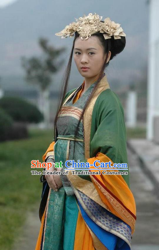 Ancient Chinese Song Dynasty Palace Lady Dress Imperial Consort Pan Replica Costume for Women