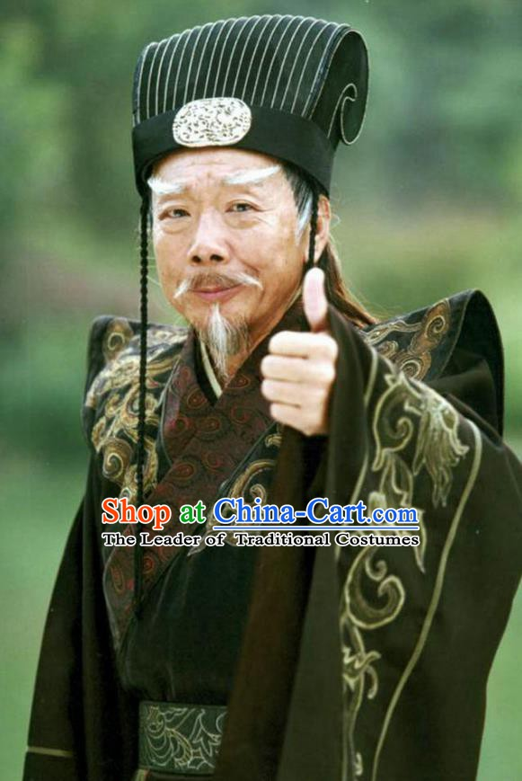 Ancient Chinese Song Dynasty Royal Highness Embroidered Replica Costume for Men