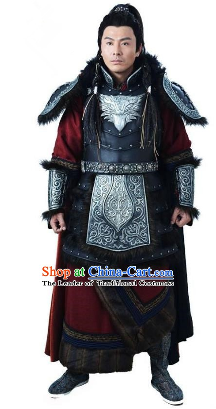 Ancient Chinese Song Dynasty Jin Minority Prince General Wanyan Zeli Replica Costume for Men