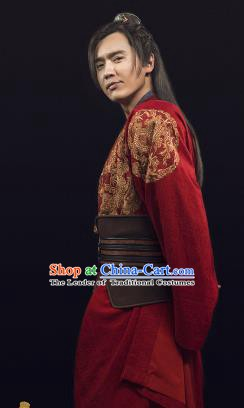 Ancient Chinese Song Dynasty Nobility Childe Swordsman Son of Yueh Fei Replica Costume for Men