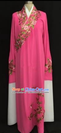 China Traditional Beijing Opera Niche Embroidered Peony Rosy Robe Chinese Peking Opera Gifted Scholar Costume