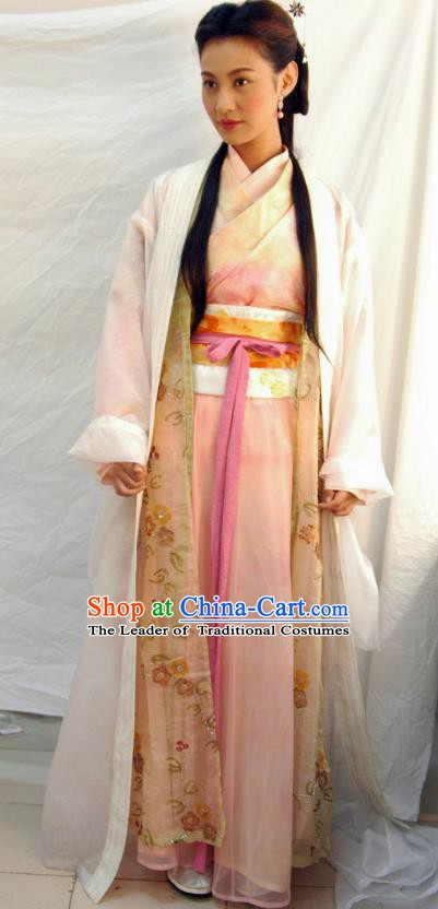 Ancient Chinese Song Dynasty Palace Lady Dress Imperial Consort Hanfu Replica Costume for Women