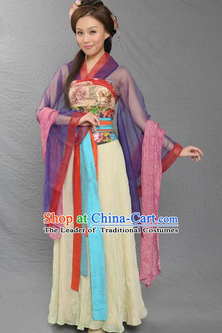 Chinese Song Dynasty Queen Embroidered Dress Ancient Palace Lady Replica Costume for Women