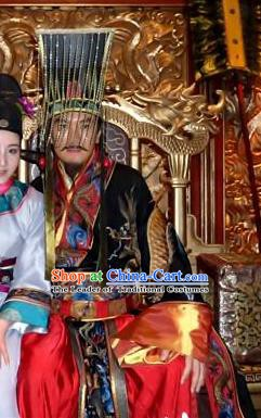 Chinese Ancient Song Dynasty Hui Emperor Zhao Ji Replica Costume for Men