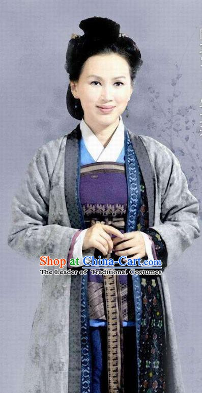 Chinese Ancient Southern Song Dynasty Female Weaver Replica Costume for Women