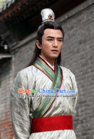 Chinese Ancient Song Dynasty Royal Prince Nobility Childe Replica Costume for Men