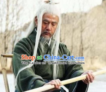 Chinese Ancient Song Dynasty Martial Master Zhou Dong Replica Costume for Men