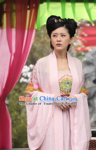 Chinese Traditional Tang Dynasty Geisha Dress Courtesan Replica Costume for Women