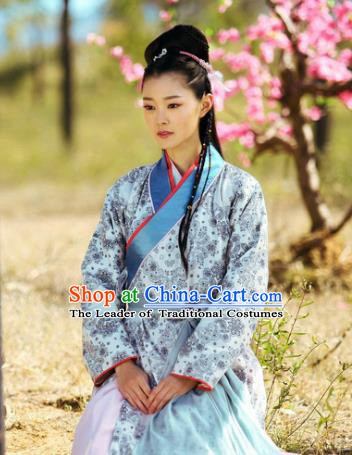 Chinese Traditional Tang Dynasty Swordswoman Dress Young Lady Replica Costume for Women