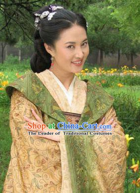 Chinese Traditional Tang Dynasty Detective Di Renjie Wife Dress Replica Costume for Women