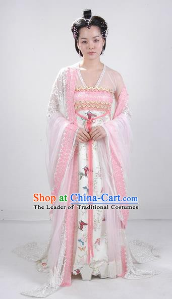 Chinese Ancient Tang Dynasty Shengping Princess Embroidered Dress Replica Costume for Women