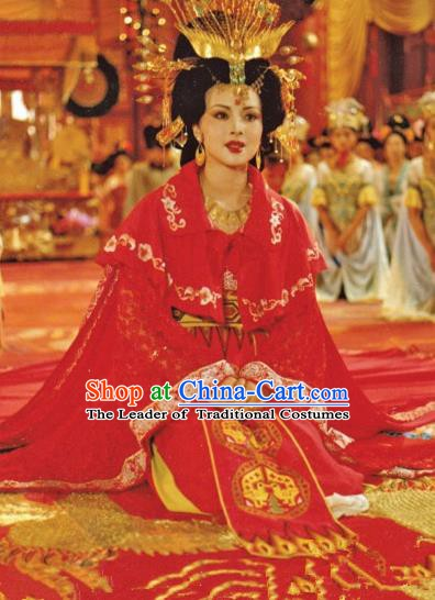 Chinese Ancient Tang Dynasty Consort Yang Dress Imperial Concubine Replica Costume for Women