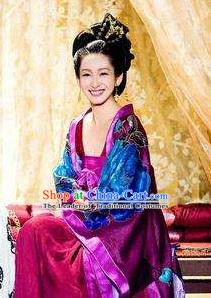 Ancient Chinese Tang Dynasty Kingdom Han Countess Hanfu Dress Replica Costume for Women