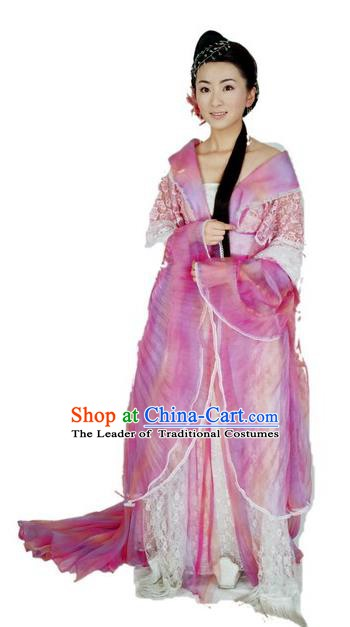 Chinese Ancient Tang Dynasty Imperial Princess Embroidered Hanfu Dress Replica Costume for Women