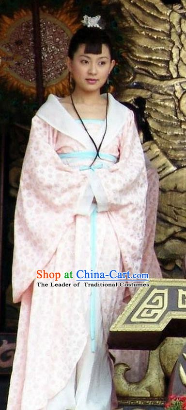 Ancient Chinese Tang Dynasty Princess Consort of Li Shimin Hanfu Dress Replica Costume for Women