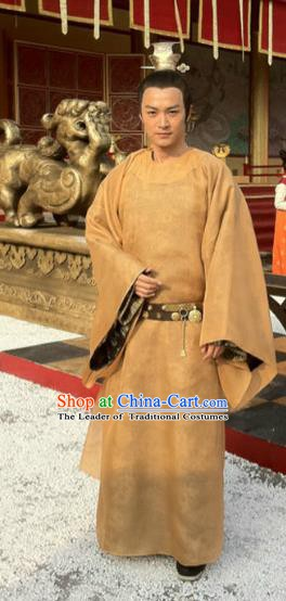 Traditional Chinese Ancient Tang Dynasty Emperor Gaozong Li Zhi Replica Costume for Men