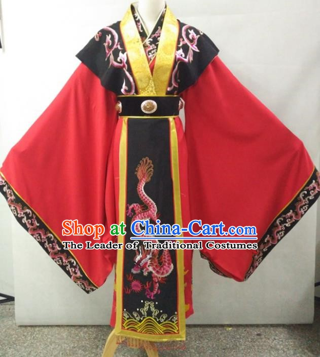 Traditional Chinese Beijing Opera Empress Costume Professional Peking Opera Diva Embroidered Red Dress