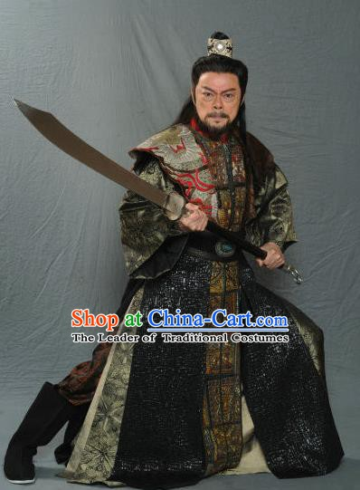 Traditional Chinese Ancient Swordsman Song Dynasty Knight Replica Costume for Men