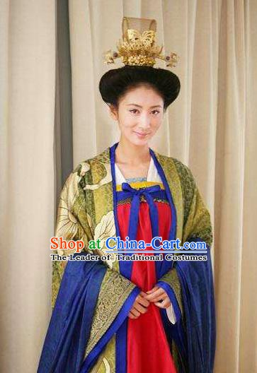 Chinese Ancient Tang Dynasty Empress Zhangsun of Li Shimin Hanfu Dress Historical Costume for Women