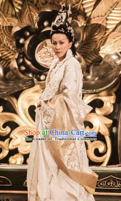 Chinese Ancient Tang Dynasty Emperor Wu Zetian Hanfu Dress Empress Embroidered Historical Costume for Women