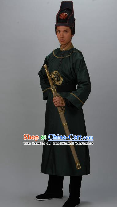 Chinese Ancient Tang Dynasty Swordsman Son of Di Renjie Replica Costume for Men