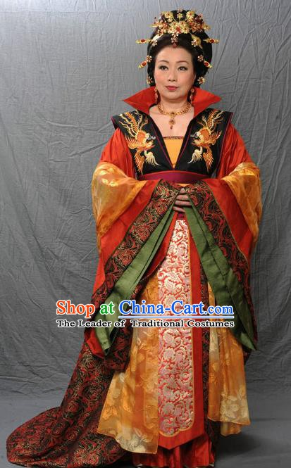 Chinese Ancient Tang Dynasty Empress Dowager Hanfu Dress Historical Costume for Women