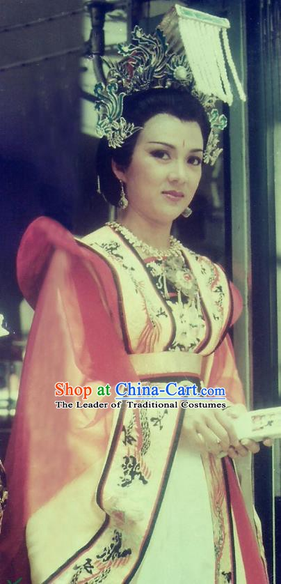 Chinese Ancient Tang Dynasty Palace Queen Hanfu Dress Empress Wu Zetian Historical Costume for Women