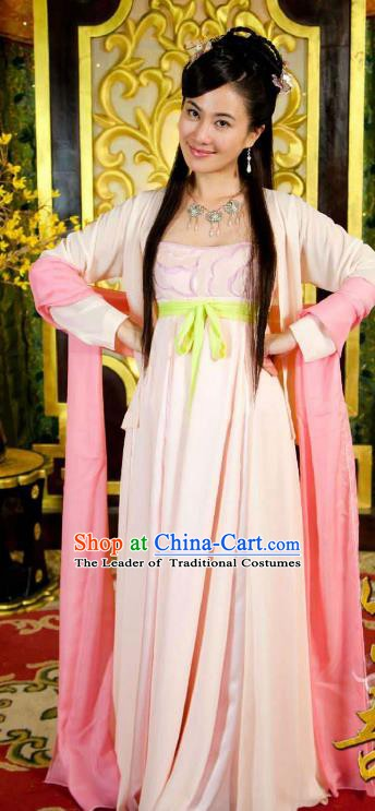 Chinese Ancient Tang Dynasty Geisha Courtesan Dress Historical Costume for Women