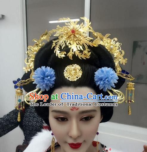 Chinese Ancient Palace Lady Hair Accessories Hair Stick Hairpins Headwear Complete Set for Women