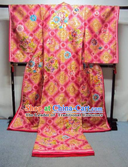 Ancient Japanese Empress Garment Palace Iromuji Furisode Kimonos Traditional Yukata Dress Costume for Women