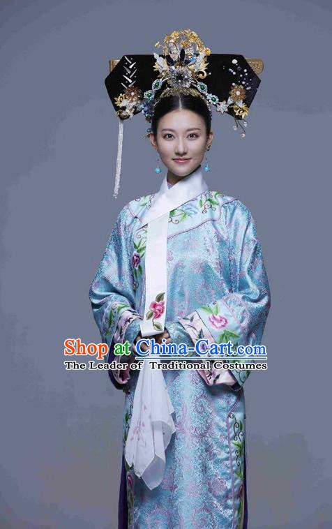 Chinese Traditional Palace Lady Historical Costume China Qing Dynasty Princess Clothing
