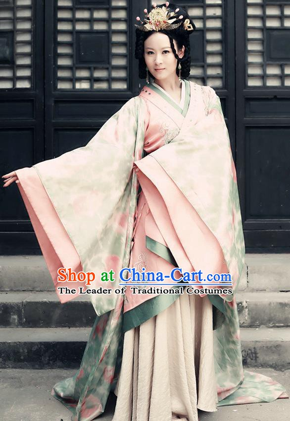 Chinese Han Dynasty Imperial Concubine Xu Li Hanfu Dress Ancient Palace Lady Replica Costume for Women