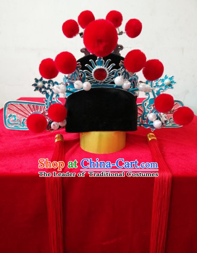 Traditional Chinese Beijing Opera Niche Hair Accessories Peking Opera Lang Scholar Hats Headwear