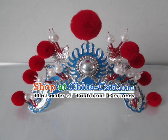 Traditional Chinese Beijing Opera Hair Accessories Female General Headgear Peking Opera Actress Headwear