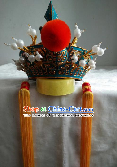 Traditional Chinese Beijing Opera Royal Highness Hats Peking Opera Niche Headwear