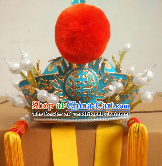 Traditional Chinese Beijing Opera Royal Highness Hats Peking Opera Officer Headwear