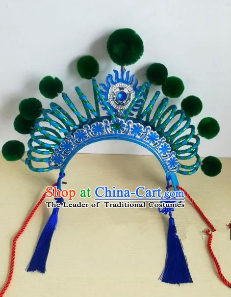 Chinese Traditional Beijing Opera Diva Helmet Peking Opera Martial Arts Actress Hats Headwear