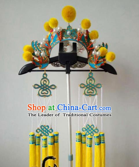 Chinese Traditional Beijing Opera Pantaloon Helmet Peking Opera Female General Hats Headwear