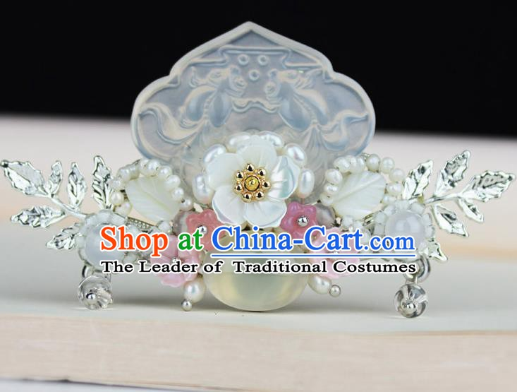 Chinese Ancient Handmade Hair Accessories Jade Hair Stick Hairpins for Women