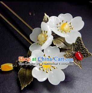 Chinese Ancient Handmade Hair Accessories Hairpins Classical Hanfu Flowers Hair Clip for Women