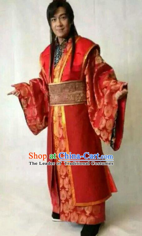 Traditional Chinese Wei and Jin Dynasties Medical Scientist Physician Huangpu Mi Wedding Replica Costume for Men