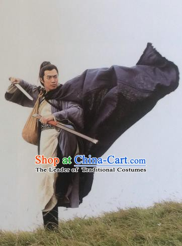 Traditional Chinese Wei and Jin Dynasties Swordsman Knight-Errant Replica Costume for Men