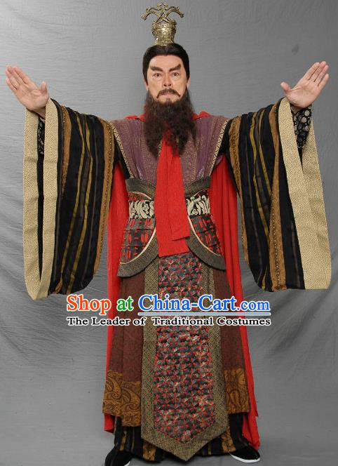 Ancient Chinese Eastern Han Dynasty Statesman Prime Minister Cao Cao Replica Costume for Men